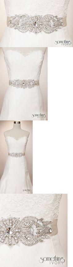 Other Bridal Accessories 106128: Serena - Beaded Rhinestone Bridal Sash, Wedding Belt -> BUY IT NOW ONLY: $150 on eBay!