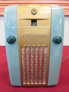 "Untouched C 1946 Westinghouse Tube Radio H 125 ""Refrigerator"" Rare Green | eBay"