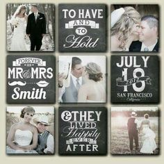 Wedding canvas with date, name, and location. ( separate canvases, when hung are x Plus a cool chalkboard effect on the text. Customized Multiple Wedding Canvases with Date by DesignerCanvases Wedding Pics, Dream Wedding, Wedding Albums, Wedding Wall, Wedding Album Layout, Wedding Ideas, Wedding Programs, Wedding Reception, Wedding Scrapbook Pages