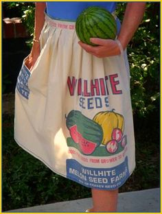 cute apron made from seed sack