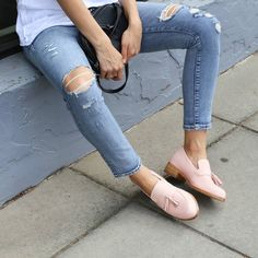 We're all about loafers this season and our pink 'Myna' loafers are at the top of our list.  Tell us yours. #loaferlove