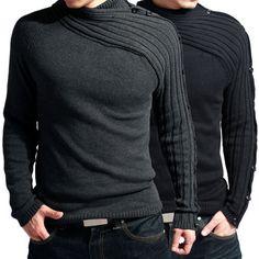 Unique Style~Warm Men's Fashion Cotton Knit Sweater 2Color+4Sz,Premium,Fall Sale #PAULJONES #Crewneck