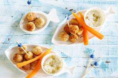 Zó eten ze tenminste vis: verpakt in grappige balletjes, met een fris sausje erbij - Recept - Allerhande