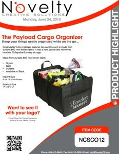 Product Highlight: Payload Cargo Organizer Announcement, Highlights, Organization, Getting Organized, Organisation, Luminizer, Hair Highlights, Highlight, Staying Organized