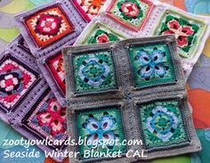 Zooty Owl's Crafty Blog: Seaside Winter Blanket:    Ramsgate Square 3
