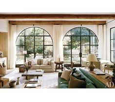 2012 Atelier AM Architectural Digest — The International Design Authority Home Living Room, Living Room Designs, Living Room Decor, Living Spaces, Living Room With Windows, Living Area, Architectural Digest, Salas Lounge, Family Room Design