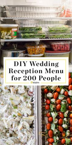 DIY Wedding Reception (or summer graduation party) Food Menu for 200 People. Need ideas for a buffet of appetizers, walking/strolling dinners, or even a display? Check these planning tips for how to pull it off yourself! Ham Biscuits, Meatballs in Sauce, Wedding Buffet Menu, Wedding Dinner, Wedding Catering, Wedding Buffets, Potluck Wedding Reception, Wedding Menu Display, Small Wedding Receptions, Wedding Rehearsal, Reception Ideas
