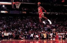 Picture of Michael Jordan Dunking: This is easily the most incredible basketball shot I've ever seen. I watched the 1988 Dunk contest live on television - and that was the night Michael