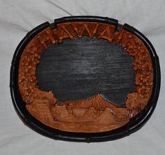Tiki Bar Hawaii Lava Wood Ashtray Dish Large by ChicMouseVintage
