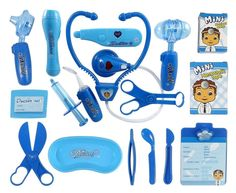 Deluxe Blue Doctor Medical Kit Playset for Kids Pretend Play Tool Toy Set 17 Pcs #LibertyImports
