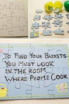 make an easter basket scavenger puzzle