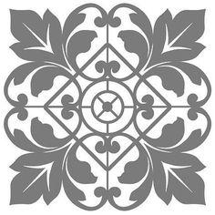 mittelgroße Schablonen – Buntstück Hamburg Stencil Patterns, Stencil Designs, Textile Patterns, Stencils, Stencil Art, Pewter Art, Stencil Printing, Islamic Art Pattern, Tile Art