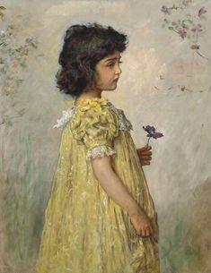 Sir John Everett Millais ( English Pre-Raphaelite painter and illustrator. Oil on canvas Sold through Christie's auctions.