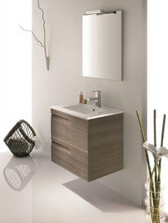 Bannio - Vitale kőris 60 függesztett szekrény + tükör 60 + Kyra mosdó