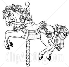 Policy Privacy Carousel Horse Coloring Pages 155 X 120 6 Kb Gif