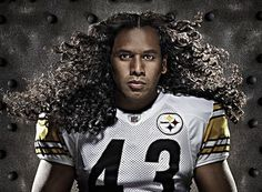 pittsburgh steeler troy polamalu s hair insured for 1 million racked Football Is Life, Steelers Football, Football Humor, Pitt Steelers, Steelers Gear, Steelers Stuff, Football Fever, Football Baby, Football Season