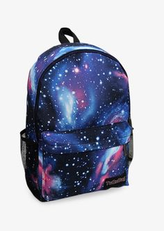Fantasy Space Nebula Print Blue Backpack