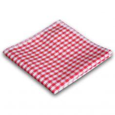 Rot kariertes Stofftaschentuch aus Baumwolle - Cotto Alpenland