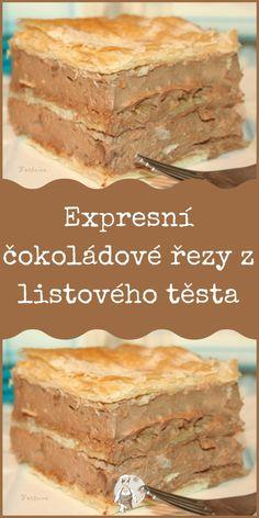 Expresní čokoládové řezy z listového těsta Banana Bread, Pizza, Food, Essen, Meals, Yemek, Eten