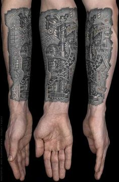 This really reminds me of that scene in terminator when ArnoldSchwarzenegger.rips the skin off his forearm and reveals his underlying robotics.