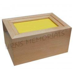 Wooden photo frame cremation urn