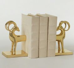 gazelle bookends