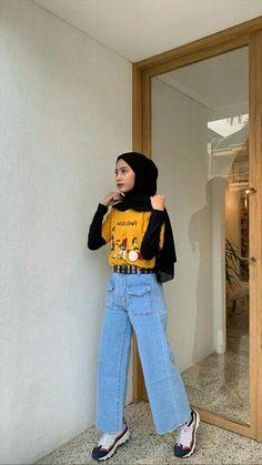 174 alternatives to shopping fast fashion – page 3 Hijab Casual, Ootd Hijab, Hijab Jeans, Modest Fashion Hijab, Modern Hijab Fashion, Street Hijab Fashion, Hijab Fashion Inspiration, Hijab Chic, Muslim Fashion