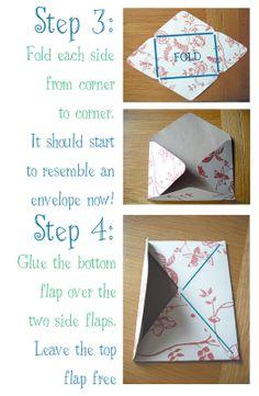 make your own envelopes .... Emily Summers Design and Nonsense: Pretty Handmade Envelopes