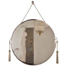 French Art Deco nickel mirror   From a unique collection of antique and modern wall mirrors at http://www.1stdibs.com/furniture/mirrors/wall-mirrors/