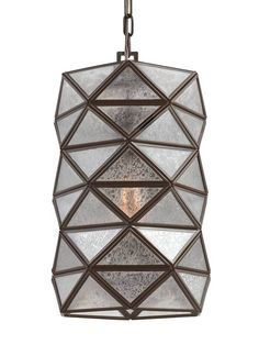 "<p>The geometric, architectural lines of the Harambee collection by Sea Gull Lighting bring visual interest to any modern interior coupled with soft, glowing light through the triangular glass panes. Inspired by South African design motifs, the collection name is a Swahili word for ""all pull together"" which is the official motto of Kenya. Offered in two distinct looks--Heirloom Bronze finish with Mercury glass or an Antique Brushed Nickel with Seeded Water gl..."