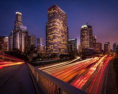This is a shot I took in Downtown LA. I waited for the cars to pass on both side to have this light streaks effect that I like. Unfortunately there was no clouds but the attention is more on the leading lines created with the light so it works out. Honestly I think that downtown is the best spot to get this long exposure effect in the Los Angeles area! Do you guys like the leading lines?  #photoserge #downtown #cityscape #LA leadinglines #lightstreaks #buildings #long_exposure