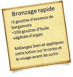 Bronzage rapide