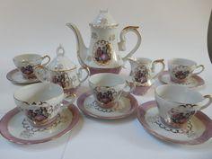 Items similar to Musical Coffee Set on Etsy Coffee Set, Teacup, Tea Set, Pots, Diamond Earrings, Porcelain, Unique Jewelry, Tableware, Handmade Gifts