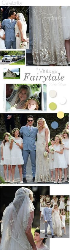 Kate Moss Wedding - A Vintage Fairytale