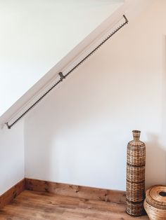 Looking for a clothes rail for a sloping ceiling? Zebedee® Original Any Angle Rail provides perfect hanging storage for loft conversions or sheds!