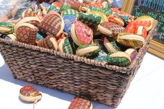 Colorful wedding favors from Laos.