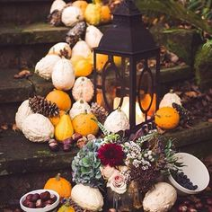 No 5 in my #autumntheme today - easy decor using things you can find in the supermarket! #autumnwedding #autumncolors #autumncolours #rustic #weddingdecor #weddinginspiration #autumn #pumpkin #swede #bounty #harvest #pinecones #conkers #chesnut from @rockmystyleblog and photo by @rebekahjmurray