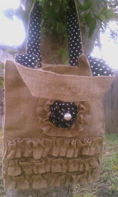 Sale Country Chic Burlap Purse  Great by burlapdreamsweddings, $32.00