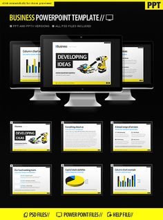 #Business #PowerPoint #Template - #PowerPoint Templates #Presentation Templates Download here: https://graphicriver.net/item/business-powerpoint-template/1932174?ref=alena994