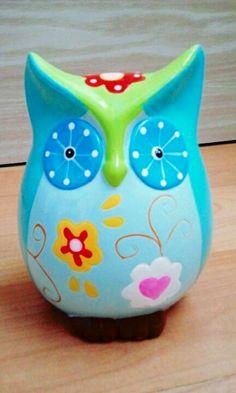 Owl moneybox (hucha buho)