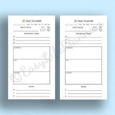 DAILY PLANNER Personal Size. Printable pdf.  by EasyLifePlanners  #EasyLifePlanners #planner #daily #personal #filofax #pdf