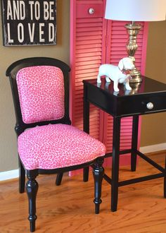 Pink Accent Chair Newly Upholstered by parsonsparlor on Etsy, $225.00 i WILL be grabbing chairs from her! these are AMAZING!