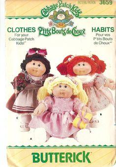 CABBAGE PATCH KIDS Doll Clothes Butterick by nancesnostalgia