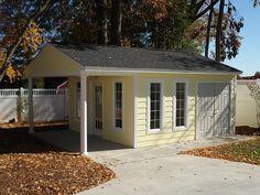 Storage buildings studio rent to own storage sheds for 16x24 garage kit
