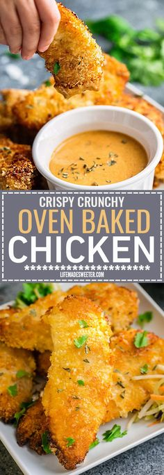 This Oven Baked Chicken Recipe makes perfectly crispy chicken that is juicy and flavorful. The best part of all is how EASY they are so you can skip that takeout stop to KFC and make them at home.