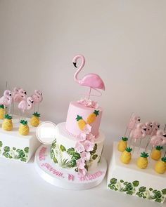 If the birthday cake design is different, meaningful, the kids, children and adults will appreciate it. Flamingo Party, Flamingo Baby Shower, Flamingo Cake, Flamingo Birthday, Luau Birthday, Cake Birthday, Birthday Cakes For Kids, Birthday Parties, Party Cakes