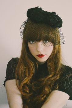 vintage black pillbox hat with veil - Google Search