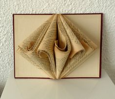 Book Art Sculpture Old book by abadova on Etsy