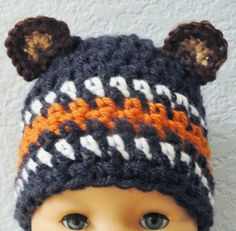 Beary Cute Hat Handcrocheted Chicago Bears by DistinctlyDaisy, $18.20