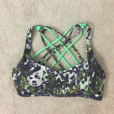 Lululemon. Free to be Wild Sports Bra. Excellent condition.   no trades ✖️ no holds  offers considered through the offer button ♻️ if it's listed, it's available lululemon athletica Tops
